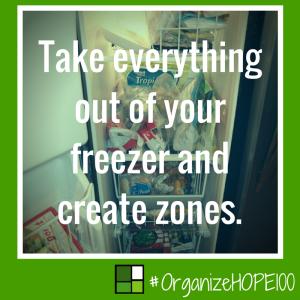 #OrganizeWithHOPE100 -19 - freezer