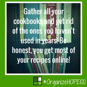 #OrganizeWithHOPE100 -20 - cookbook