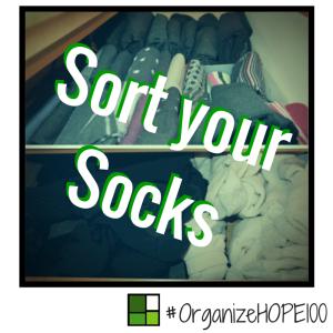 #OrganizeWithHOPE100 -26- socks