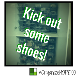 #OrganizeWithHOPE100 -28- shoes