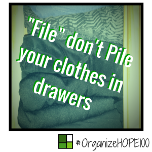 #OrganizeWithHOPE100 -30- File don't pile