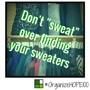 #OrganizeWithHOPE100 -33 - sweaters