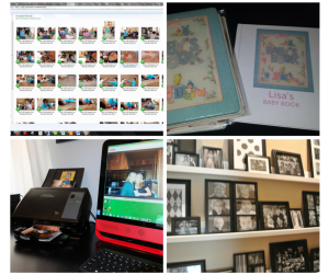 Photo Organizing images of digital photos, photo albums, scanning and photo displays